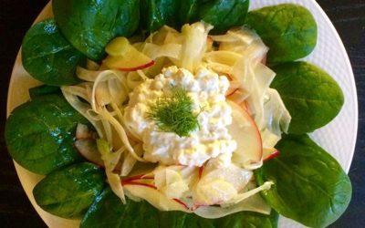 Salade met venkel, appel en dille